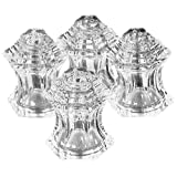 SET OF 4 CRYSTAL SALT AND PEPPERS