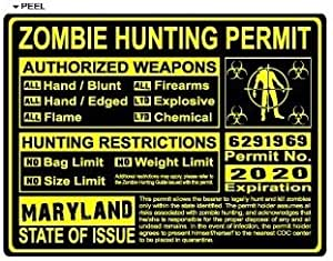 Maryland md zombie hunting license permit for Md fishing license