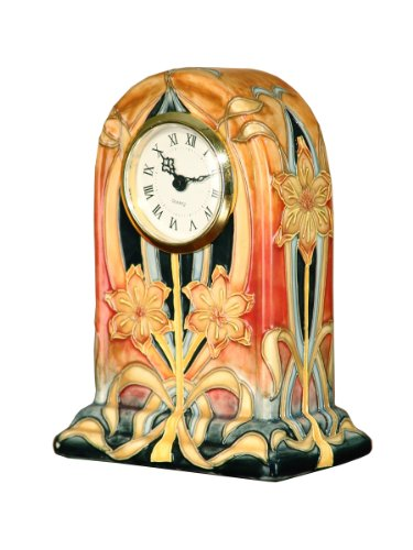 Dale Tiffany PA500200 Pasque Flower Clock, 4-3/4-Inch by 7-Inch