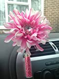 Yankee Candle Scented Car Vase and Flower with Vase Stones -Hot Pink Shaggy Gemmed Gerbera