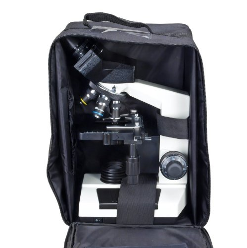 Omax 40X-1000X Compound Binocular Microscope With Vinyl Carrying Case