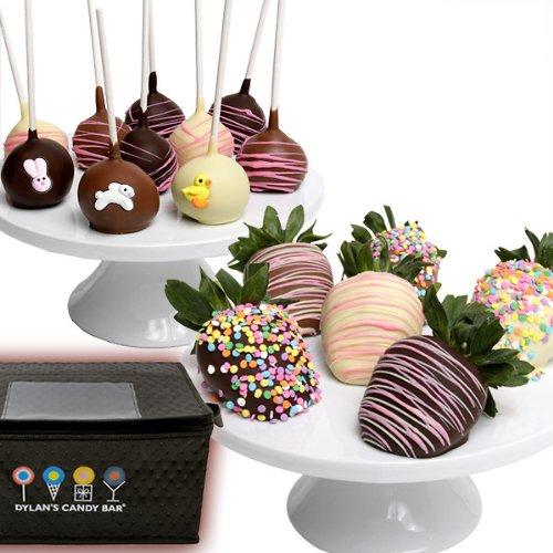 Dylan's Candy Bar Belgian Chocolate-Covered Easter Strawberries and Cake Pops
