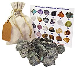 Emerald Rough Natural Stones 1 Lb (.5 Kg) Bulk Reiki Chakra Healing Crystals Mineral Gemstone Specimens (Emerald)