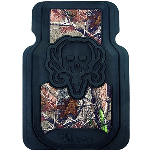 Bone Collector Floor Mats (Realtree AP Camo, Durable Molded PVC, Trim-to-Fit, Set of 2) (Clear Mats For Chevy Cruze compare prices)