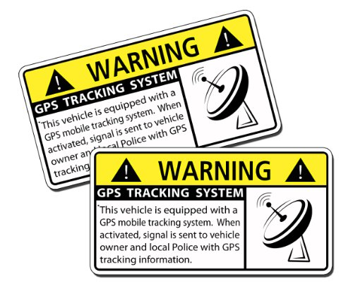Vehicle GPS Tracking System Warning Sticker Decal OEM Picture
