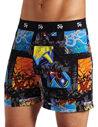 Stacy Adams Men's Regular Geometric Boxer Short, Multi, Small