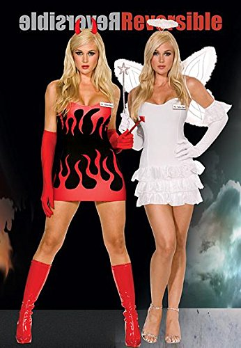 Miss Hellen Back Reversible Angel Halloween Costume Size:Large