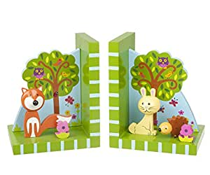 Orange Tree - Woodland Friends Wooden Bookends