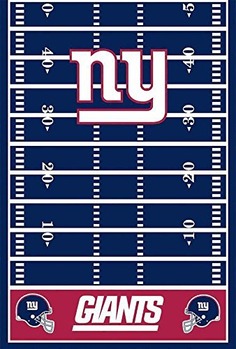 "DesignWare New York Giants Plastic Table Cover, 54 by 102"" - 1"