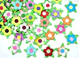 Card making mulberry Paper flowers for Scrapbooking wedding multi color 50 pcs No Mul 008