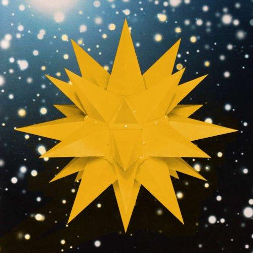Weihnachtsstern, Adventsstern, original Herrnhut, für Außen, Kunststoff, 40 cm, mit Wandarm, Stern, Sterne, Weihnachtssterne, Adventssterne, original Herrnhuter Stern, gelb