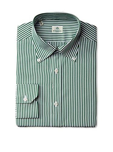 Borrelli Men's Stripe Long Sleeve Dress Shirt