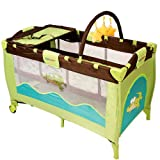infantastic� KRB02Jungle Croc Portable Baby Child bed travel cot with toys entryway 0-36 months green / turquoiseby infantastic�