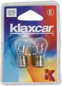 KLAXCAR France 86280X Stop Blister 2 Fil 12V Bay15D P21/5W