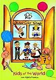 Window-Color-Vorlage: Kids of the world. Window Color Vorlage