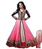 Yogi Fashion Women's Georgette Dress Material(Shradhdha Gajari_FreeSize)
