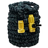 HOAEY Garden Hose, Flexible Expandable Hose Pipe Brass Fittings ( 100 Feet )