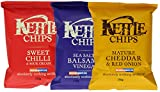 Kettle Chips Sweet ChillI +Mature Cheddar and Red Onion +Balsamic Vinegar and Sea Salt 150g each