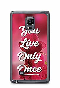 YuBingo You Live Only Once Designer Mobile Case Back Cover for Samsung Galaxy Note 4 Edge