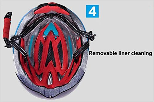 Rainbow flower Male and female mold bicycle helmet glasses one mountain road helmet with goggles riding equipment