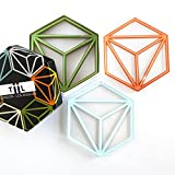 Hexa Drink Coasters By TiiL. Set of 6 Plus Gift Box (Prism)