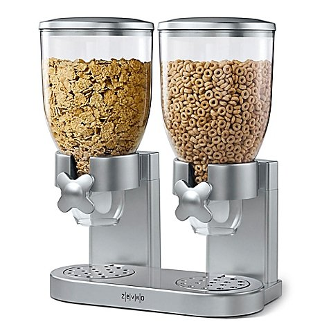 Zevro® Double IndispensableTM Cereal and Dry Food Dispenser in Silver (Cereal Dispenser Double compare prices)