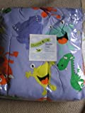 Divatex Kids Twin Bedding Comforter Blue with Fun Monsters