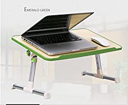 Everything Imported TM Best Multipurpose Laptop Table Durable Strong Bed Tray Foldable, With Cooling Fan Ventilated For Study / Reading / Eating / Craft-work Portable E-Table Computer PC Desk (Get TTL/Trusttel Mobile Cover Free)
