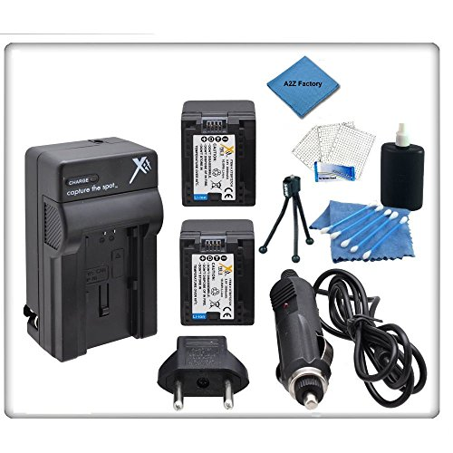 2 Pack High Capacity Canon Bp727 Replacement Battery & Charger For Canon Hfm50, Hfm500, Hfm52, Hfr30, Hfr300, Hfr32, Hfr40, Hfr42, Hfr400, Hfm52, Hfm56, Hfm506, Hfr38, Hfr36, Hfr306 High Definition Camcorders + Starters Kit & A2Z Microfiber Cleaning Cloth