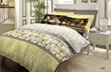 Bombay Dyeing Around The World Cotton Double Bedsheet with 2 Pillow Covers - Yellow and Brown (CS03WW30706801)