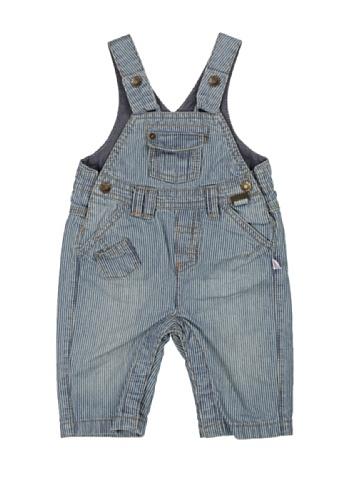 KANZ Baby Baby-Boys Newborn Stripe Overall, Blue