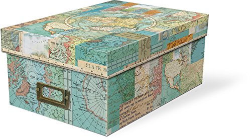Punch Studio World Atlas Photo Storage Box