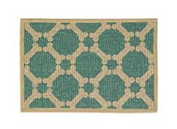 Buddy\'s Line Natural Jute Pet Placemat, Teal Background