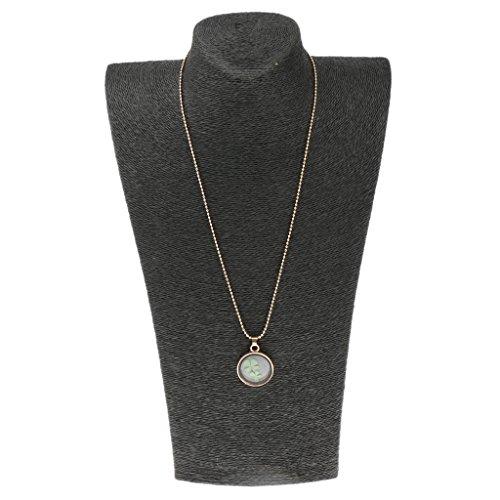 Longue cha ne collier pendentif rond tr fle porte bonheur pour femme bijouterie carr or - Bijoux porte bonheur pour femme ...