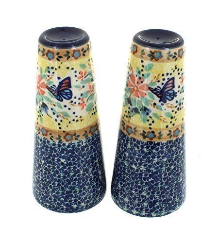 polish-pottery-blue-butterfly-salt-pepper-shakers-by-blue-rose-pottery