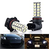 12V 2 PCS 6000K 9006 HB4 Super Xenon White 68-SMD LED Bulbs DRL Daytime Running Fog Lights Day Driving Lamps Lighting
