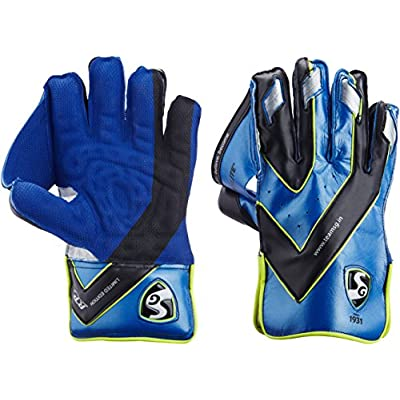 SG Hilite Wicket Keeping Gloves, Men's (Blue/Silver)