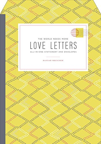 The World Needs More Love Letters All-in-One Stationery and Envelopes (Fold & Mail Stationery)