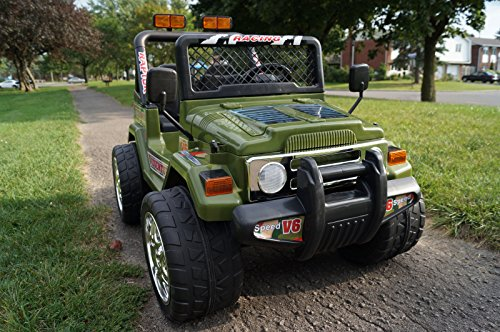 Original Battery Operated Ride on Jeep Wrangler Power Kids Ride on Toy Remote Control Battery Wheel R/c Licensed Car for Kids with Push to Start and Lights 2 Speeds