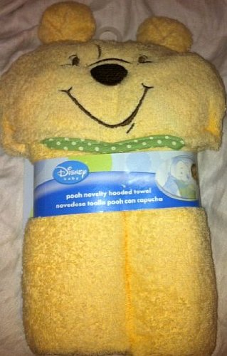 Disney Baby Winnie The Pooh Hooded Towel 100% Cotton - 1