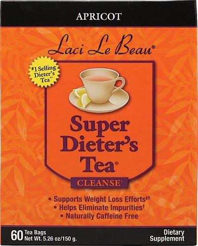 Laci Le Beau Super Dieter's Tea Apricot Caffeine Free 60 Tea Bags