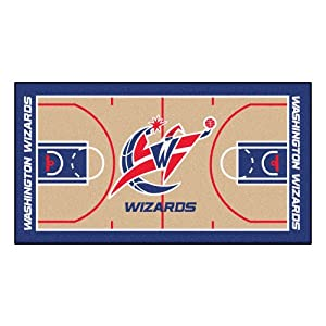 FANMATS NBA Washington Wizards Nylon Face NBA Court Runner-Small by Fanmats