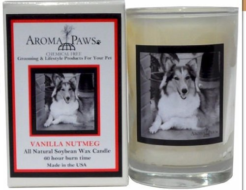 Aroma Paws 345 Breed Candle 5 Oz. Glass-Gift Box - Collie