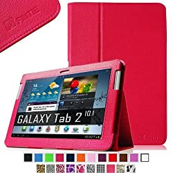 Fintie Slim Fit Folio Case Cover for Samsung Galaxy Tab 2 10.1 inch Tablet - Magenta