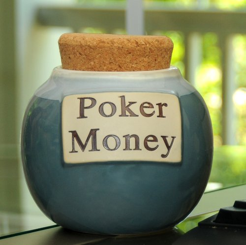 Tumbleweed 'Poker Money' Funny Money Bank, Coin Jar; Gifts For Gamers