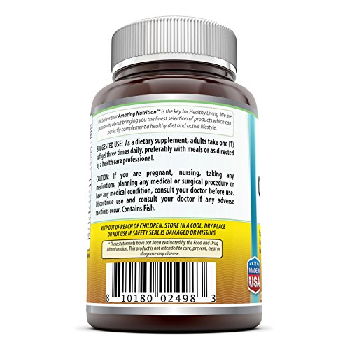 Amazing nutrition omega 3 6 9 1200 mg 120 softgels unique for Fish flax and borage oil