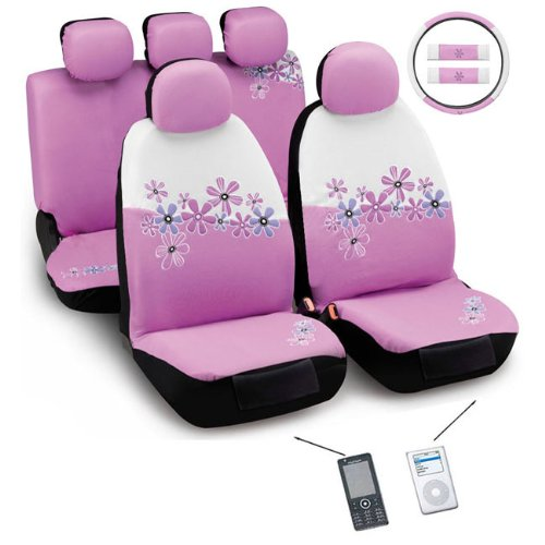 girly car seat covers and mats. Black Bedroom Furniture Sets. Home Design Ideas