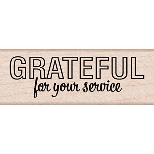 "Hero Arts Grateful for Your Service Mounted Rubber Stamp, 2.75"" by 1"""