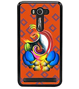 printtech Lord Ganesha Back Case Cover for Asus Zenfone 2 Laser ZE550KL , Asus Zenfone 2 Laser ZE550KL (5.5 Inches)