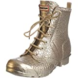 Hunter Carnaby Boa Lace Metallic Wellington Boot